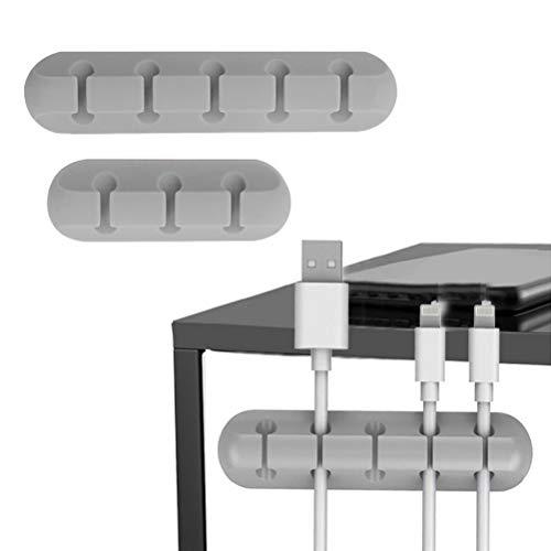 FANTYE2 개 코드 홀더 케이블 클립 홀더 데스크 와이어 클립 접착 케이블 관리에 대한 자동차 홈소(5 3 슬롯)