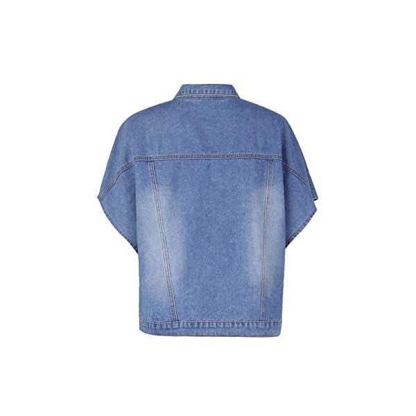 Women's Fashion Loose Denim Cloak Coats Washed Destroyed Denim Jackets Outerwear Vests 6