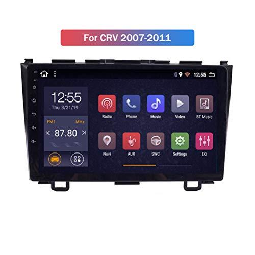 HP CAMP Android 9.1 8 Core Autoradio für Honda CRV 2007-2011, Stereo Supporta la Fotocamera di Backup/Microfono/CarPlay/DSP/Bluetooth 5.0 / SWC/mappe Offline Online,4g WiFi 4g+64g