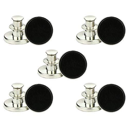 YSISLY 10 Piezas Botón Instantáneo, 17 mm Botones de Repuesto Jean Ajustables...