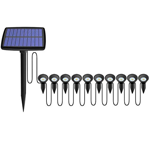 Luces de Camino Solar, estaca del Suelo Lámparas de estaca del Patio de la luz Al Aire Libre Impermeable LED Lámpara de Ruta de Paisaje para Patio pasaría Patio Patio Camino de césped (Size : 10PCS)