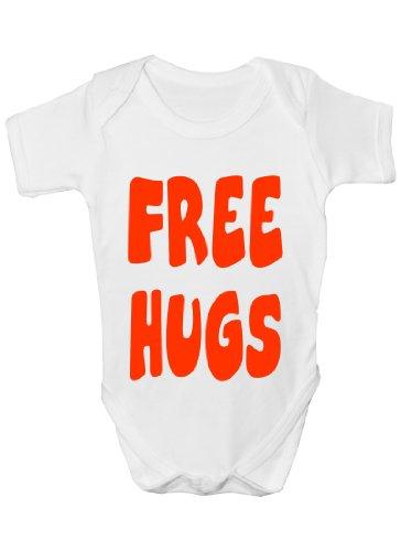 Free Hugs ~Cadeau humoristique Bébé Fille/Garçon-Gilet-cadeau - Blanc - 12 mois