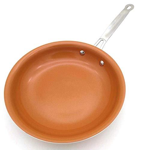 Sartén Sartén Wok Sartén Antiadherente Cocina de inducción Wok Sartenes Pan de jardín Pizza Sartén para Huevos Estufa de Gas Sartén para panqueques (Tamaño: 24 cm) Conveniente