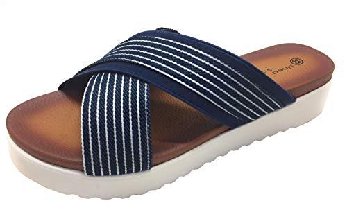 Linea Scarpa Damen Pantolette Badeschuhe Sandale blau Gr.40