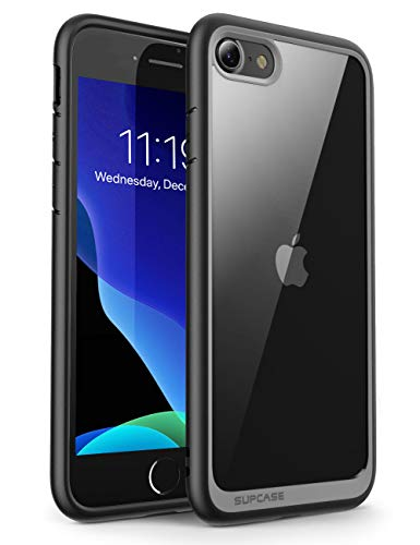 SupCase Funda iPhone SE/ 7 / 8 Transparente Case [Unicorn Beetle Style] Antigolpes Carcasa Protector para Apple iPhone se 2020 / iPhone 7 2016 / iPhone 8 2017 - Negro