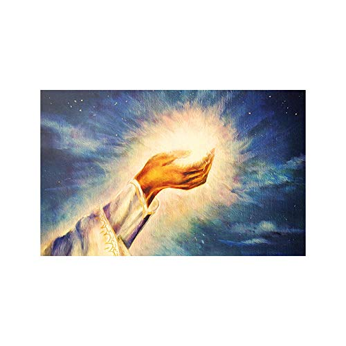 OTXA Jesus Holy Light Ölgemälde Christ Church Art Deco Gemälde hängen rahmenlose Gemälde Core-30 * 40