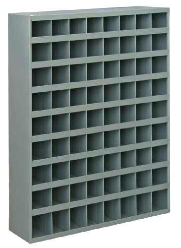 Durham 363-95 Gray Cold Rolled Steel 72 Opening Bin with Slope Self Design, 33-3/4