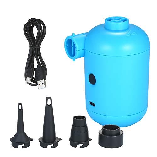 Kshzmoto Bomba de Aire eléctrica USB portátil Colchón de Aire Barco Sofá Bomba Inflable de Aire automático para inflador de Camping para automóvil