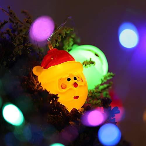 SGZBY Adornos Navideños Muñeco De Nieve Navideño Luces De Batería Árbol De Navidad Decoración De Papá Noel Cadenas De Luz