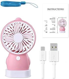 Yellow Duck Penguin Fan Creative Personality Mini Usb Charging Fan Student Fan Summer Portable Small Fan United States pink
