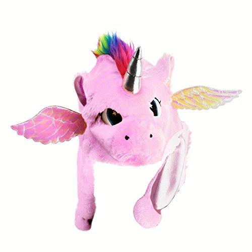 Gorro Unicornio Peluche Rosa