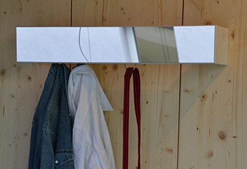 Preisvergleich Produktbild jan kurtz slim weiss wand garderobe mit spiegel,  wardrobe design marcus hofbauer weiß