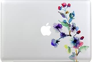 G Ganen Macbook Decal Colors Flower Macbook Sticker Partial Cover Macbook Pro Decal Skin Macbook Air 13 Sticker Macbook Decal