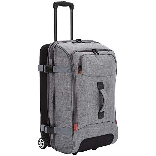 Amazon Basics - Reisetasche mit Rollen, Mittel, Grau