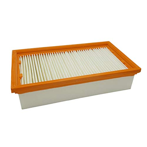 Reinica PES Luftfilter Staubklasse M für Bosch 2 607 432 034 Filter Lamellenfilter Staubfilter Faltenfilter Staubsaugerfilter Flachfilter