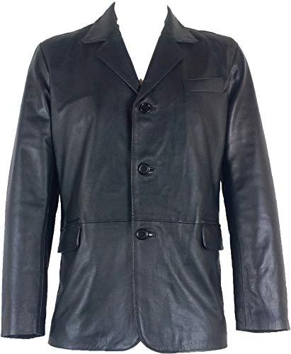 Unicorn Hommes Réel en Cuir Veste Classique Blazer Noir Taille 42#B5