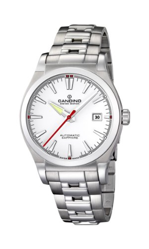 Candino C4442/1 - Reloj analógico de Cuarzo para Hombre, Correa de Acero Inoxidable Color Plateado