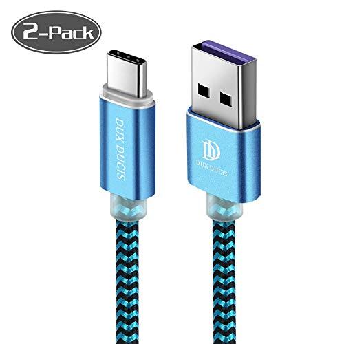 Kabel [2 Stück 1M] für Huawei P30 / Huawei P30 Pro/Huawei P30 Lite, Durable Nylon Supercharge USB C Ladekabel für All Huawei Type C Device