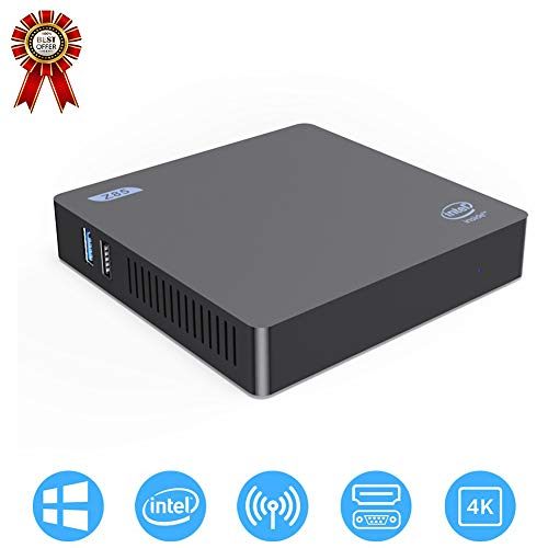 Multi-Functie Mini PC, WiFi Computer Host, Bluetooth 4.0, X5-Z8350 Processor, 4 GB, 64 GB, Gigabit Ethernet, HD 400 grafische kaart, Home Office Gaming Computer Host 4G+64G Zwart