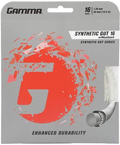 Gamma - Corda Sintetica per Tennis 16G, Colore: Bianco