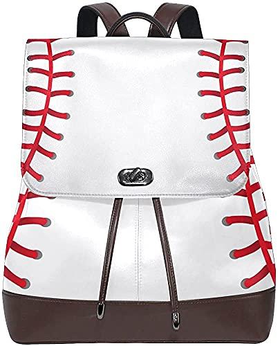 YUMNKJHGFRT Mochila de piel sintética con textura de béisbol, bolsa de hombro personalizada, para escuela, colegio, bolsa de libros, bolsa de pañales para mujeres y niñas