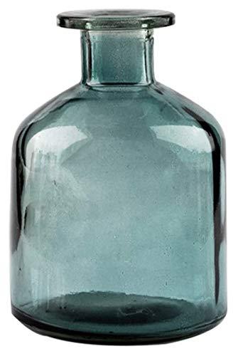 chyus Jarrón de Vidrio para decoración, jarrón de Sala de Estar, jarrón de Cristal Transparente para la decoración de la Oficina en el hogar - Conjunto de 2 (Color : Bronze, Size : Small)