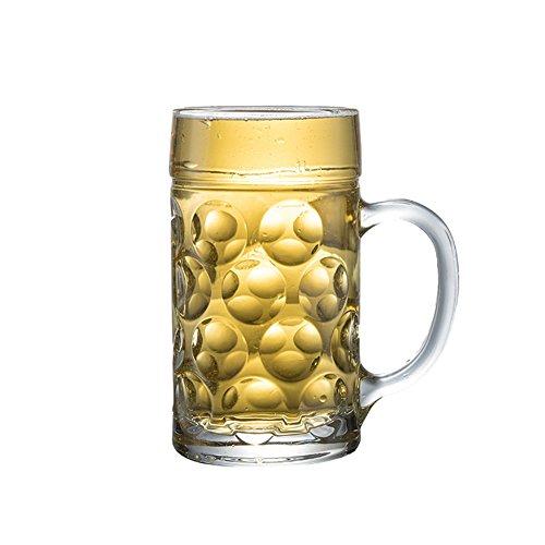 Vasos De Vidrio Taza De Cerveza Personalizada Gruesa Transparente Creativa De Gran Capacidad Fuerte para La Tienda De Bar Home Men (Size : 500ml)