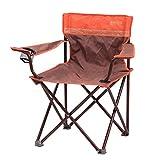 ZLGP Silla plegable de camping, silla plegable de camping, silla de camping ligera con bolsa de almacenamiento y portavasos, tela Oxford, para actividades al aire libre, picnic, pesca, café/naranja