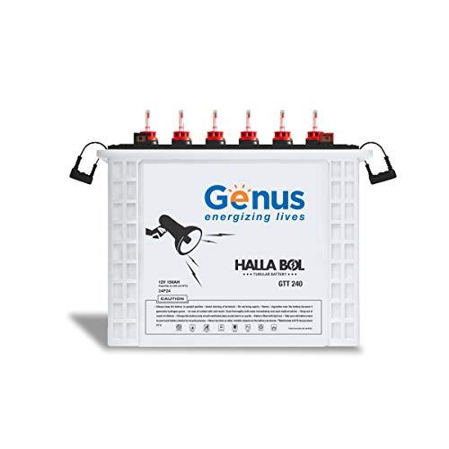 Genus Hallabol GTT240 150 AH Tall Tubular Inverter Battery with 48 Months Warranty for Home, Office...