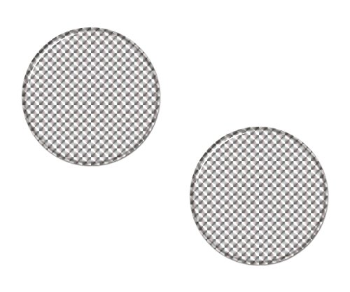 AG Design A-CZ-083 sticker reflector rond, 3D, diameter 5 cm, set van 2 - wit