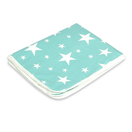Letech® Wickelunterlage für Babys und Kleinkinder, wasserdicht, waschbar, wiederverwendbare Windel Matte (XL (80 * 110cm), Stern)