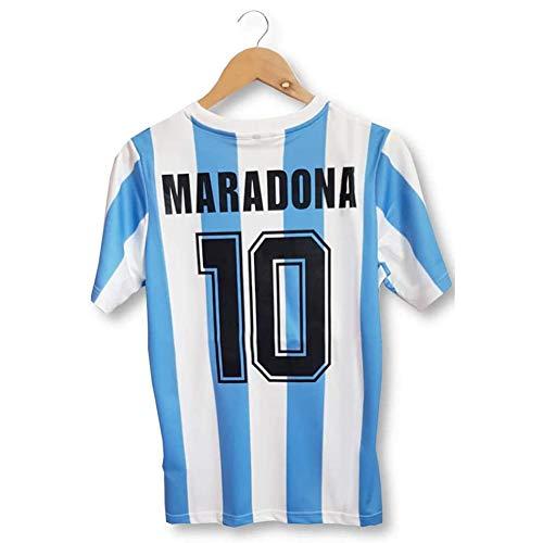 Rongchuang Camiseta de fútbol Camiseta, Maradona Ball King Camiseta de fútbol para Nuestro héroe Forever No.10 1986 Copa del Mundo de Argentina Camiseta de fútbol clásica Uniforme