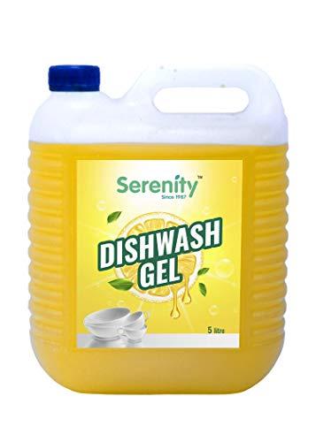 Serenity Dishwash Gel ( 5 Litre Pack ) | Dishwashing Gel for Dishwashers & Hand Utensil Wash