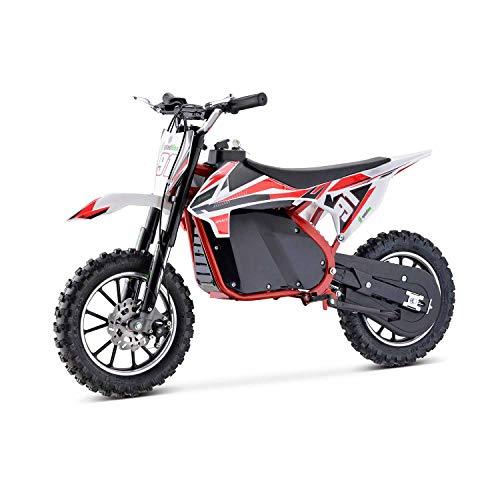 Moto Eléctrica Niños Desde 5 o 6 años | Minimoto Eléctrica Roja BIPOWER Speed Lion | Moto eléctrica 500W y 36V | También para Adultos < 60 kg