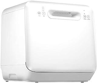 Atten Mini cocina lavavajillas automático compacto for mostrador Lavavajillas 6 de mesa portátil for Apartamento pequeño cocina casera, blanca