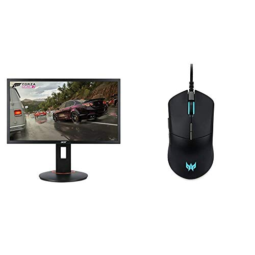 Acer XFA240 bmjdpr 24' Gaming G-SYNC Compatible Monitor 1920 x 1080 with Acer Predator Cestus 330 Gaming Mouse