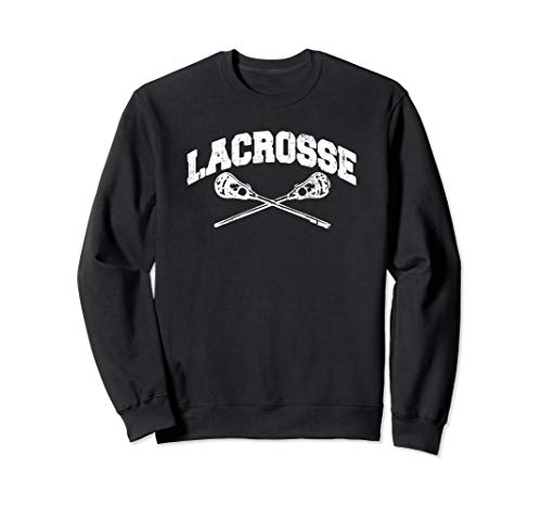LACROSSE Crossed Sticks Lax Player Boys Girls Teens Vintage Sweatshirt