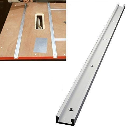 T-Track 800 mm, 31,5 Pouces en Aluminium T-Slot, Alliage d'aluminium Rail Mitre Bar Slider Woodworking T-Slot T-Tracks Mitre Tool for Router Table, Woodworking