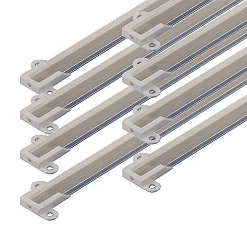 JANDEI - 8 * 1 metro Perfil aluminio tira led con tapa superficie 14,5 x 7 mm