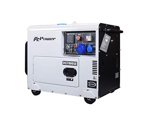 ITC Power IT-DG7800SE - Generador Diésel insonorizado (6300 W, 230 V)