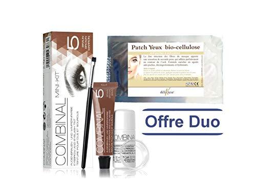 déliktess® - Offre duo Beauté : Mini kit Teinture de cils Brun + Patch Bio Cellulose déliktess®