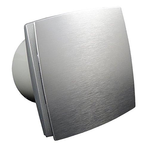 Bad-Lüfter Ventilator Wandlüfter 100 125 150 VENTS LD-TH /LDA-TH Nachlauf (Timer) Feuchtesensor (Edelstahl, Ø 125)