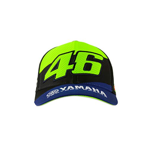 Valentino Rossi Colección Yamaha Dual Gorra, Unisex, Royal Blue, Tall