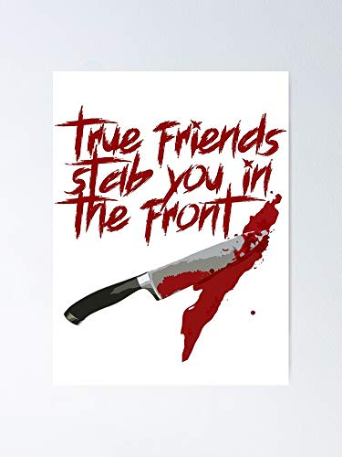 MCTEL True Friend Stab You In The Front - BMTH Lyrics Poster 12x16 Inch No Frame Board for Office Decor, Best Gift Dad Mom Grandmother and Your Friends