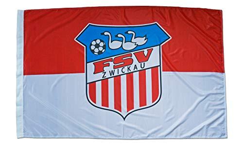 FSV Zwickau Schwenkfahne Fußball Fahne Flagge 150x100 cm Lizenzprodukt