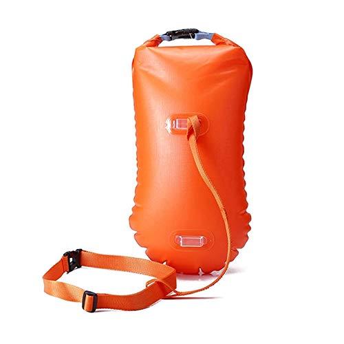 HWNGDI Deportes acuáticos Safety Natación Dispositivo Natación Caja de Seguridad Flotante Inflable Boya Boya Piscina Aeropina Aeropina Agua Abierta Airbag Fácil de operar (Color : Orange)