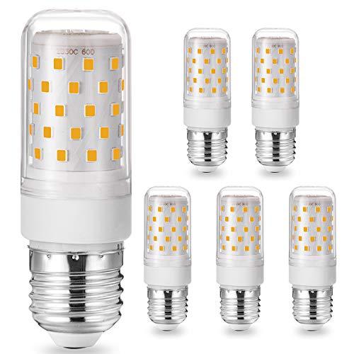 Eco.Luma E27 LED Warmweiß, 7W 700LM E27 LED Mais Birne Lampe Ersatz 60W 70W Halogenlampe, E27 Sockel Led leuchtmittel, 3000K Kein Flackern 360° Abstrahlwinkel Nicht dimmbar AC220-240V 5er Pack