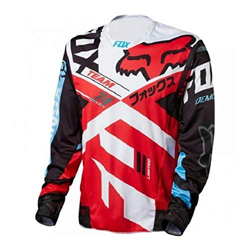 FMBK666 Camiseta de Ciclismo para Hombre, Camiseta de Manga Larga, Camisetas de Ciclismo, Camiseta de Descenso de Secado rápido para Camisetas de Bicicleta MTB