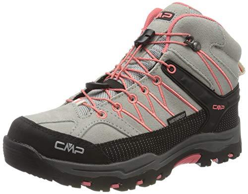 CMP – F.lli Campagnolo Unisex-Kinder Kids Rigel Mid Shoe Wp Trekking- & Wanderstiefel, Grau (Glacier-Flamingo 30TE), 32 EU