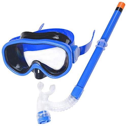 Big Shark Kinder Schnorchel-Set Junior Schnorchelausrüstung for Kinder Silikon Tauchen Schnorcheln Gläser Set Semi-Dry Schnorchelausrüstung (Color : A)